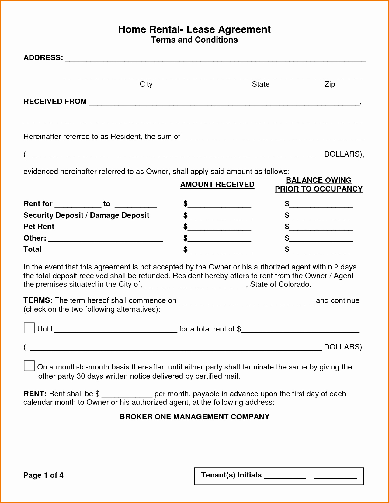 Rent Lease Template Fresh 5 House Rental Agreement Template