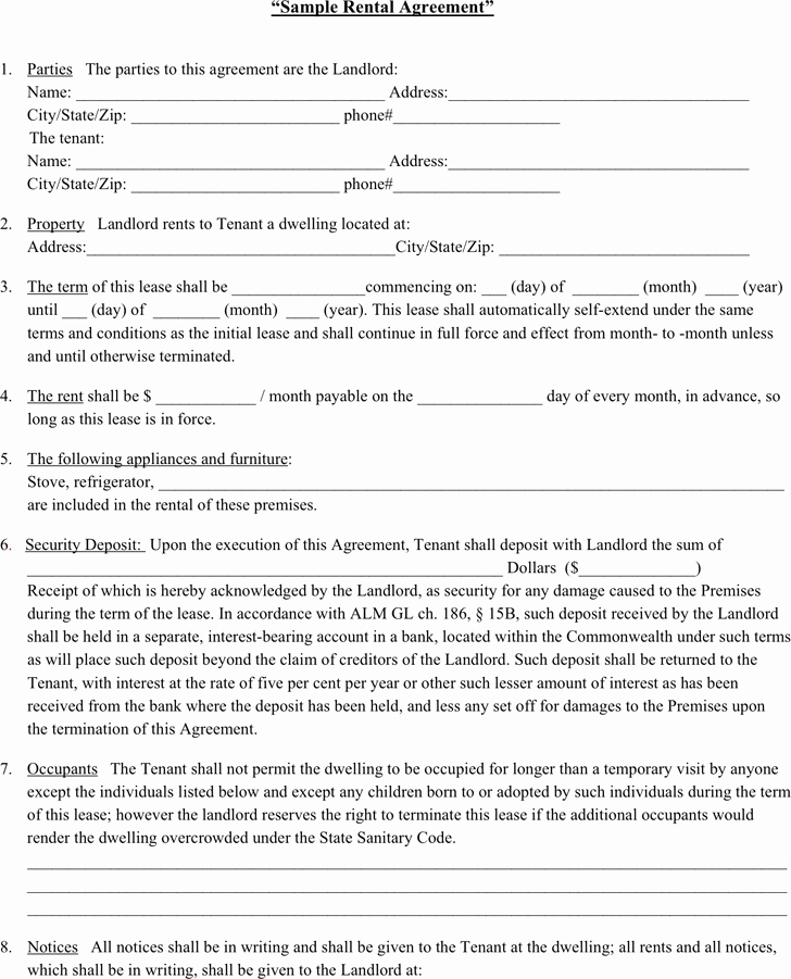 Rent Lease Template Luxury Rent Agreement Examples