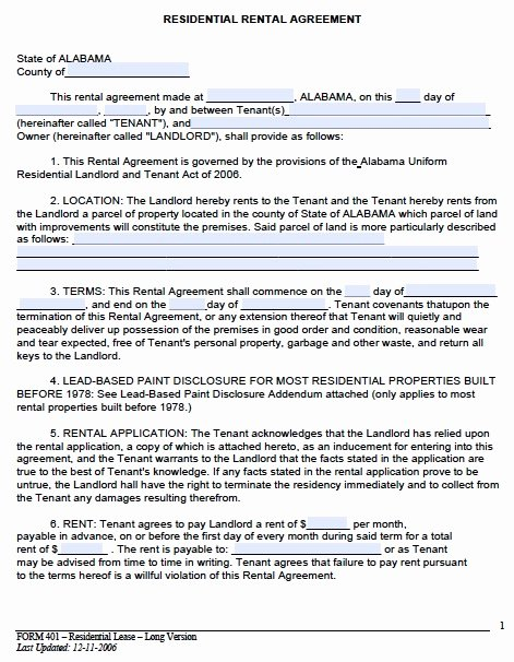 Rent Lease Template Unique Rental Lease Agreement Template