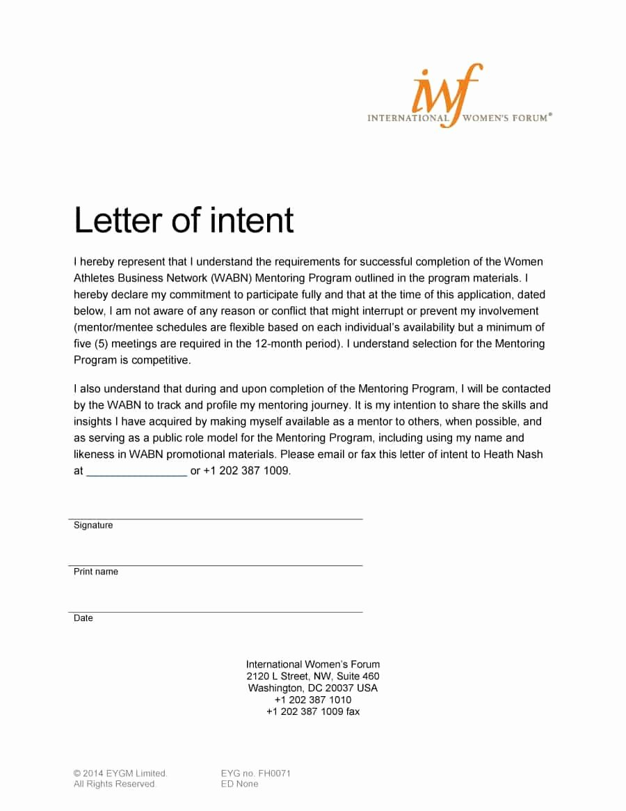 Rent Letter Of Intent Beautiful 40 Letter Of Intent Templates & Samples [for Job School