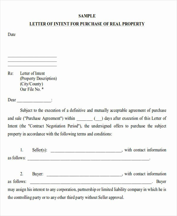 Rent Letter Of Intent Lovely 60 Sample Letter Of Intent