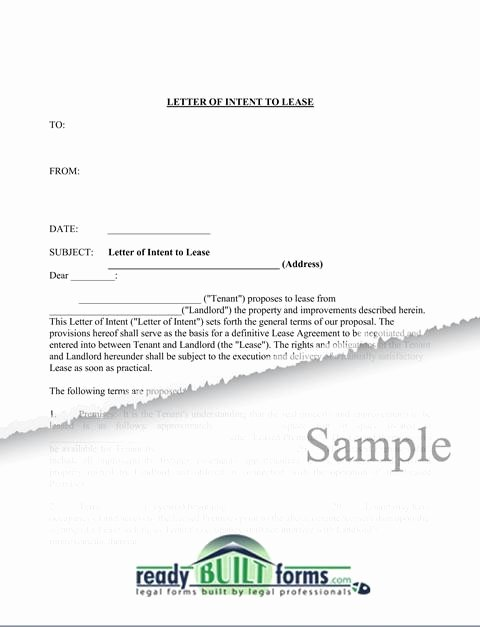 Rent Letter Of Intent Lovely Sample Letter Intent to Lease Retail Space Loi Letter