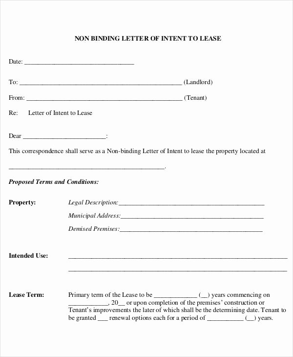 Rent Letter Of Intent New Simple Letter Templates 47 Free Word Pdf Documents