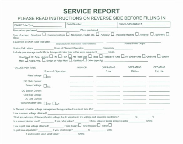 Repair Report Template New Sample Service Report Template 30 Free Word Pdf Apple