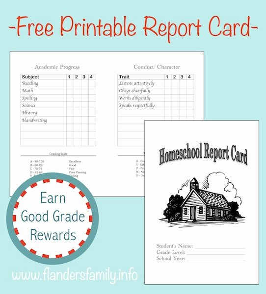 Report Card Templates Free Beautiful Home School Report Cards Flanders Family Homelife