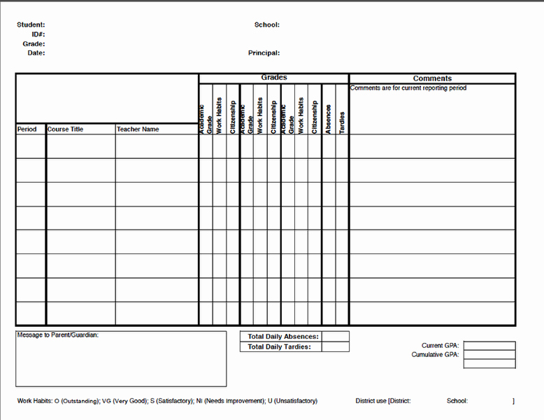 Report Card Templates Free Best Of Report Cards – Illuminate Education
