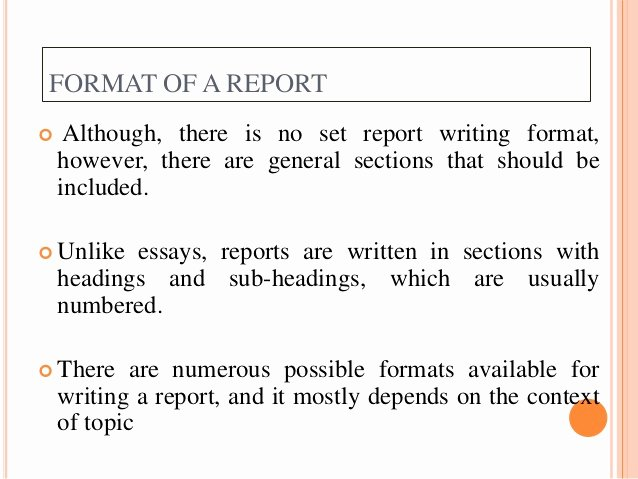 Report Writing Template Lovely Report Writing Types format Structure and Relevance