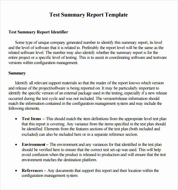 Report Writing Template Luxury Sample Summary Report 9 Documents In Pdf Word Apple