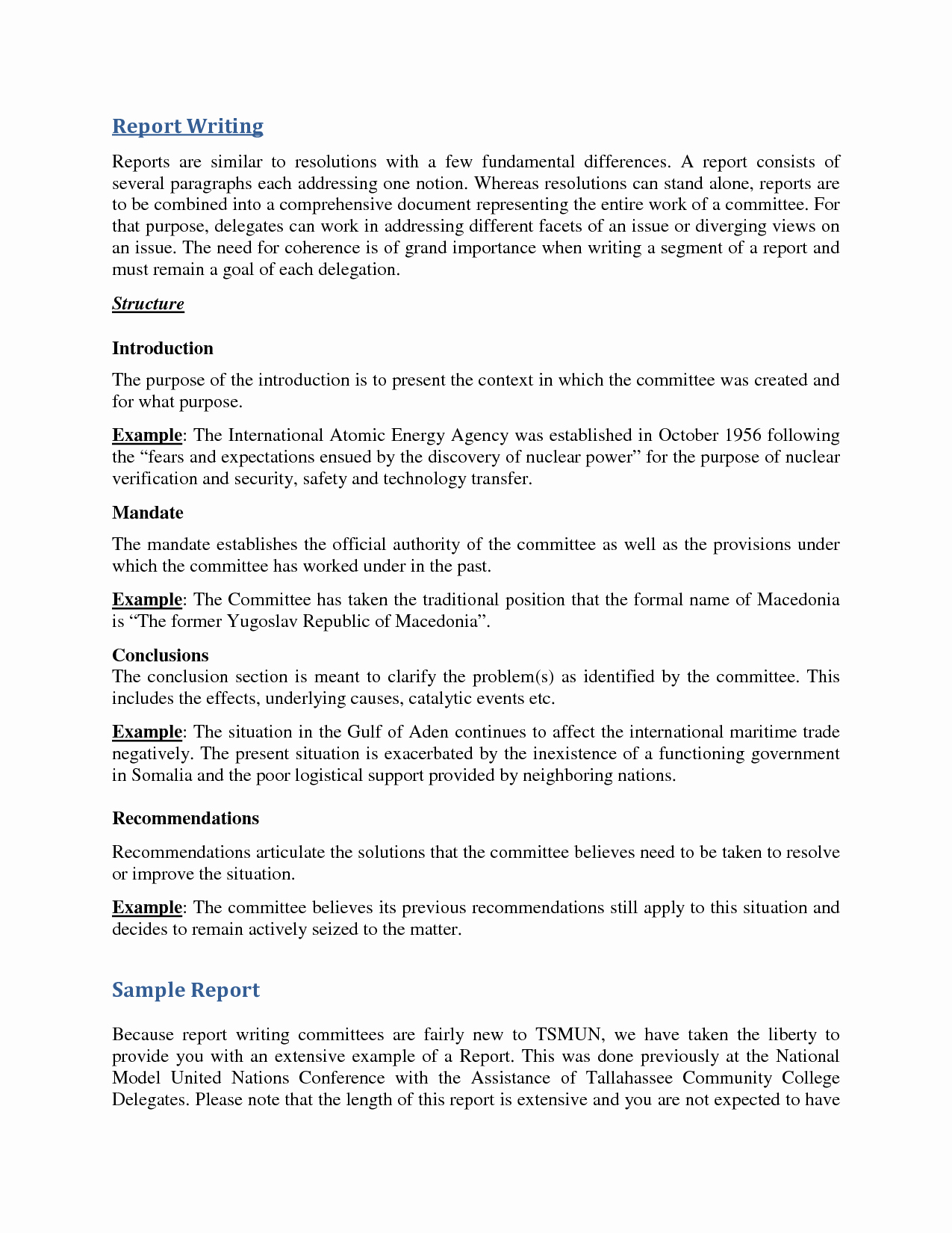 Report Writing Template New Business Report Writing Example Pdf to Print
