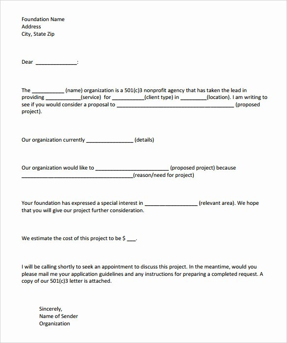 Request for Funds form Template New Grant Application Letter Of Intent Template Science