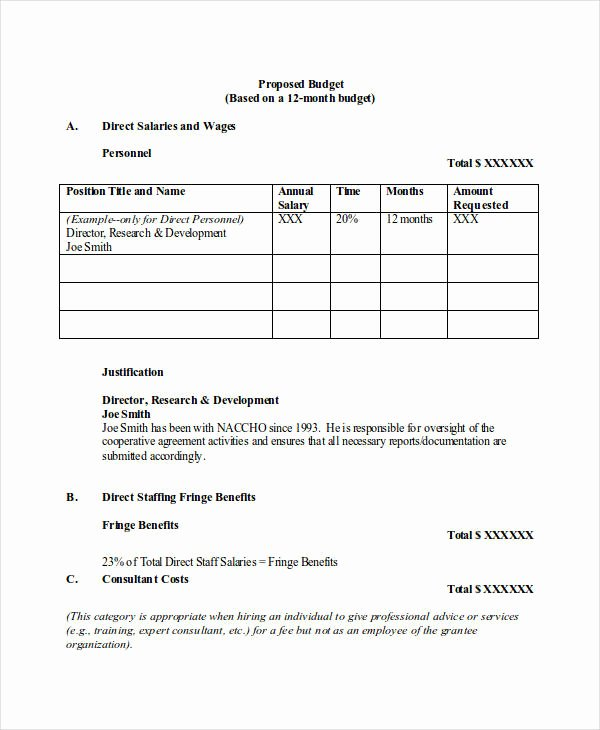 Research Proposal Budget Example Inspirational 15 Bud Proposal Examples Pdf Word Pages