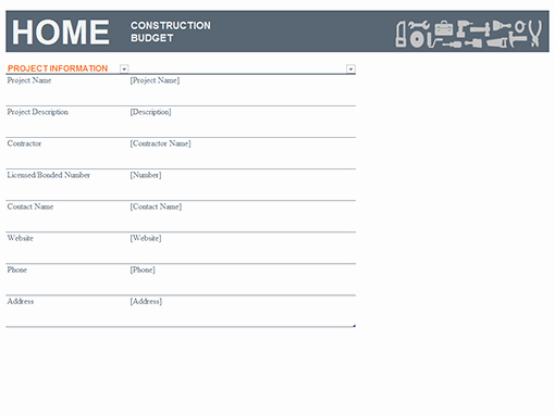 Residential Construction Budget Template Excel Inspirational Bud S Fice