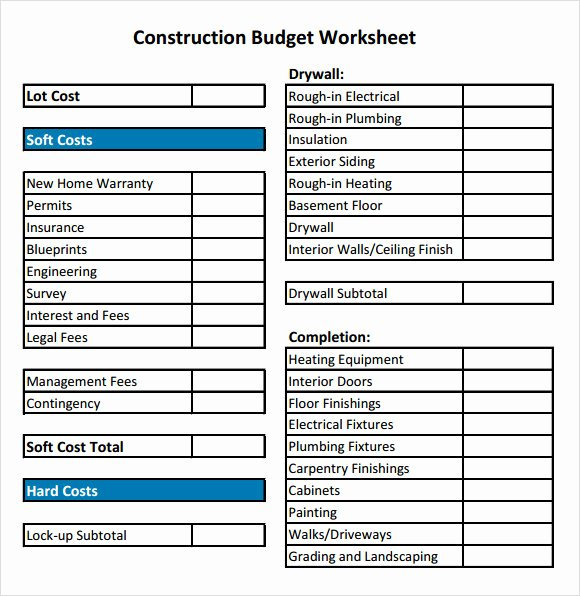 Residential Construction Budget Template Excel Luxury 11 Construction Bud Samples Word Pdf Excel