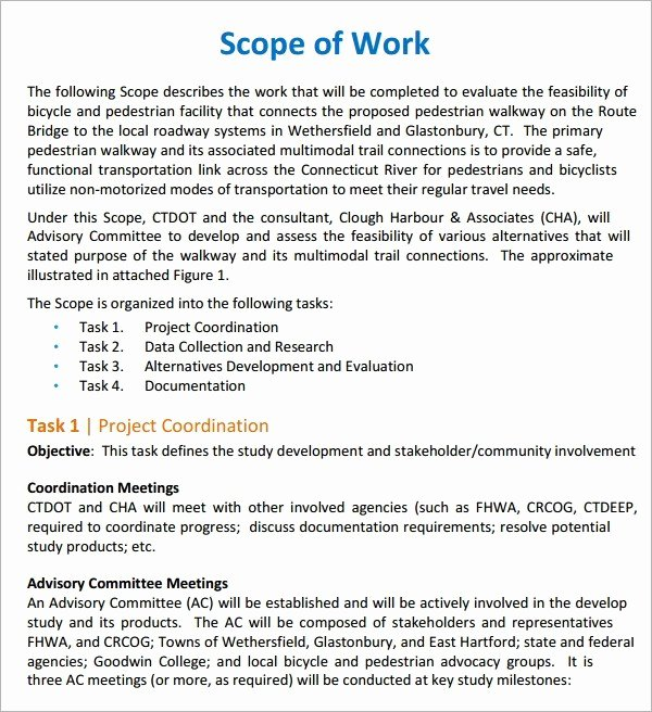 Residential Construction Scope Of Work Template Fresh 6 Scope Work Templates Website Wordpress Blog