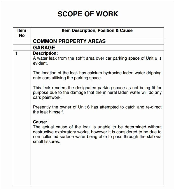 Residential Construction Scope Of Work Template Inspirational Scope Of Work 22 Dowload Free Documents In Pdf Word Excel