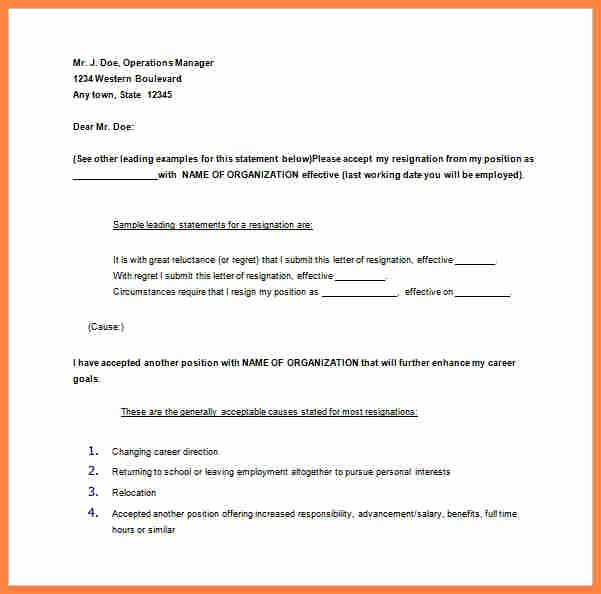 Resignation Letter 30 Days Notice Best Of 11 Samples Of Resignation Letters with Notice