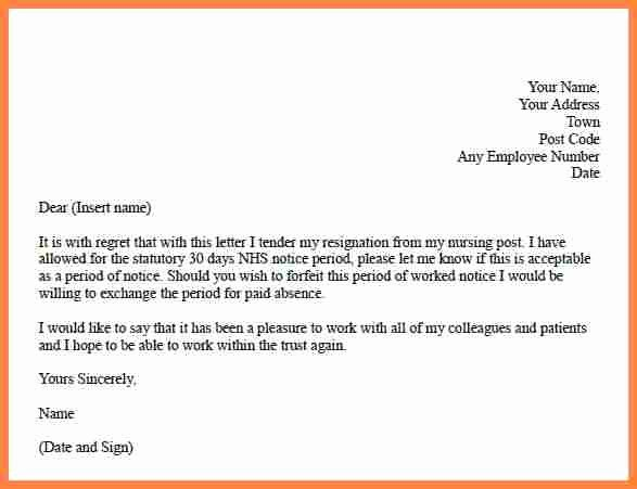 Resignation Letter 30 Days Notice Inspirational 3 Resignation Letter 30 Days Notice