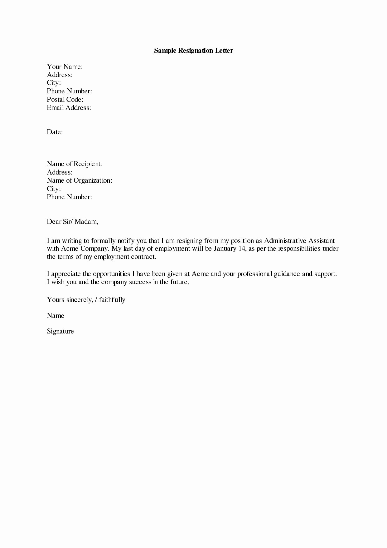 Resignation Letter 30 Days Notice Lovely assisted Living 30 Day Notice Letter Template Sample