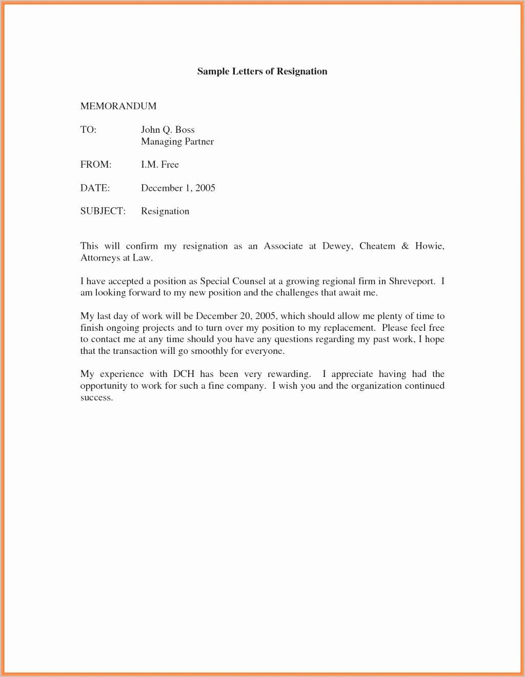Resignation Letter 30 Days Notice Luxury 13 14 Resigning Letter Pdf