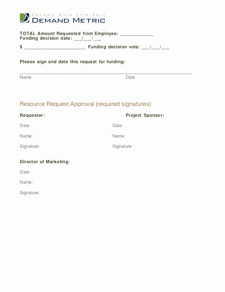 Resource Request form Awesome Financial Resource Request form