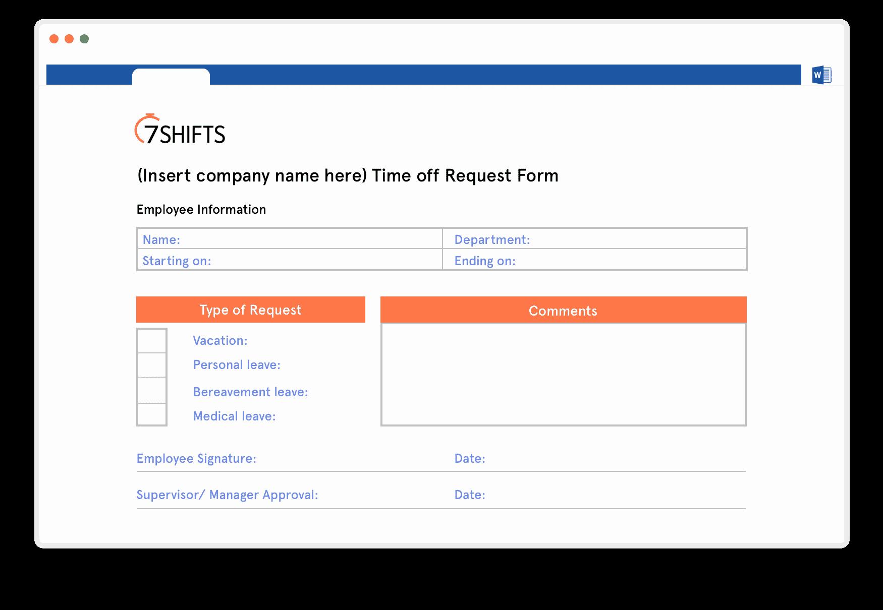Resource Request form Elegant Restaurant Time F Request Template