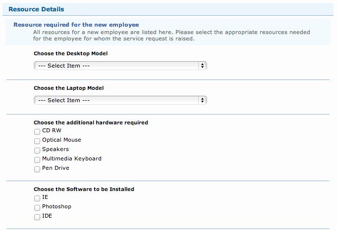 Resource Request form Elegant Servicedesk Plus Demand Help