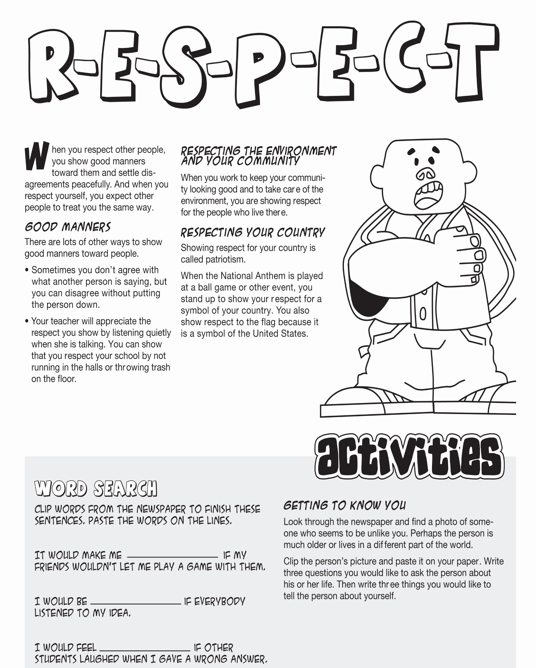 Respecting Others Property Worksheet Inspirational Grand forks High School Students Teach Respect & Caring at