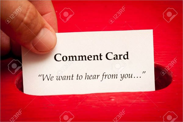 Restaurant Comment Cards Template Best Of 13 Customer Ment Cards Psd Eps Google Docs Word