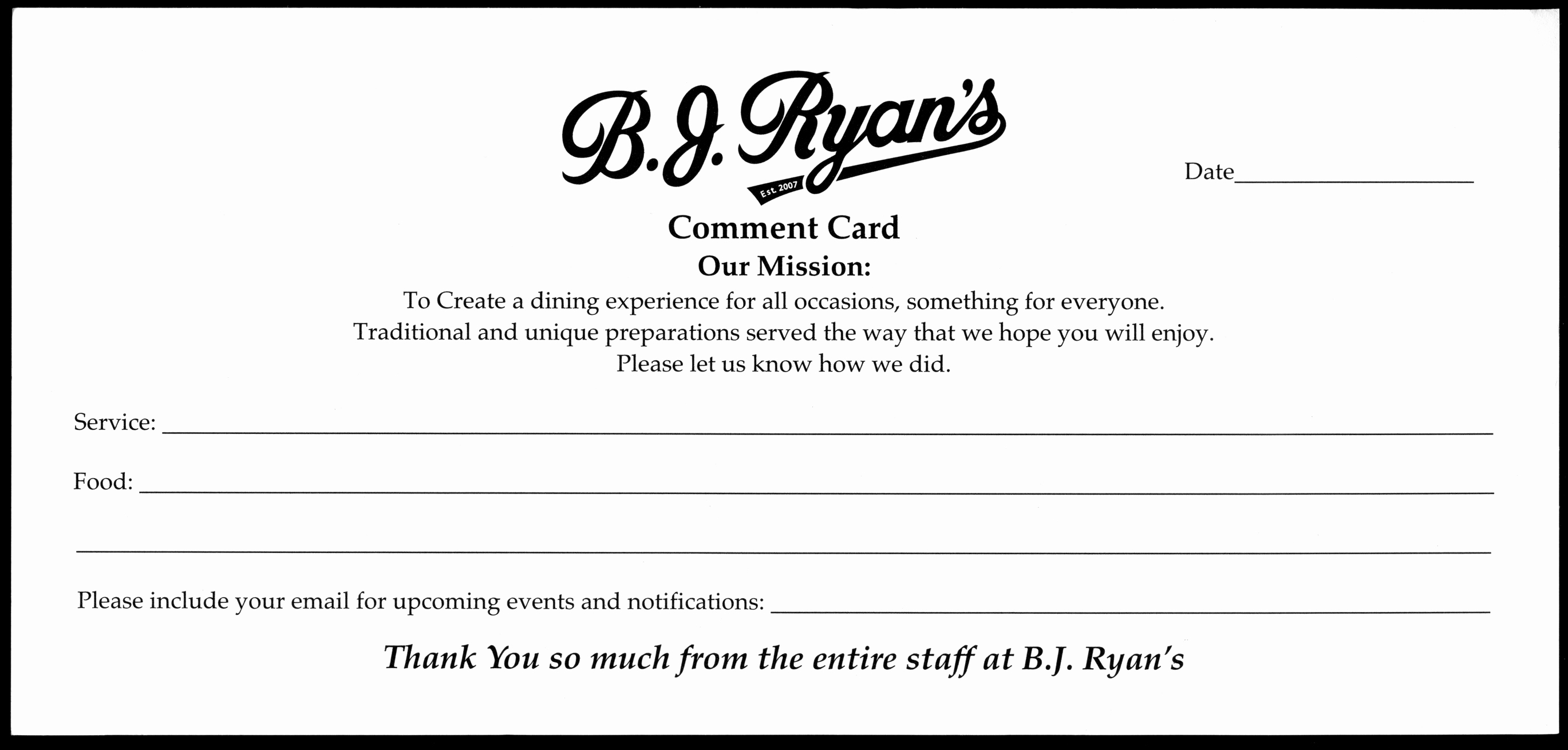 Restaurant Comment Cards Template New 1000 Images About Ment Card On Pinterest