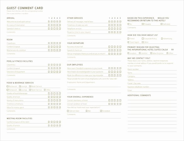 Restaurant Comment Cards Template New Ment Card Template – 27 Free Printable Word Pdf Psd