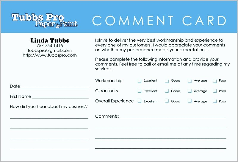 Restaurant Comment Cards Template Unique Ment Card Examples Hashtag Bg