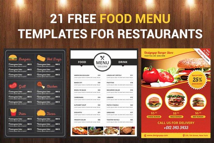 Restaurant Waiting List Template New 21 Free Food Menu Templates for Restaurants Designyep
