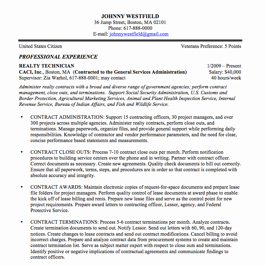Resume In Paragraph form Awesome Federal Resume Sample and format the Resume Place