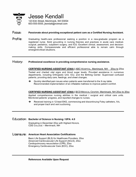 Resumes for Cna Position Awesome Cna Resume Must Haves How to Be E A Cna