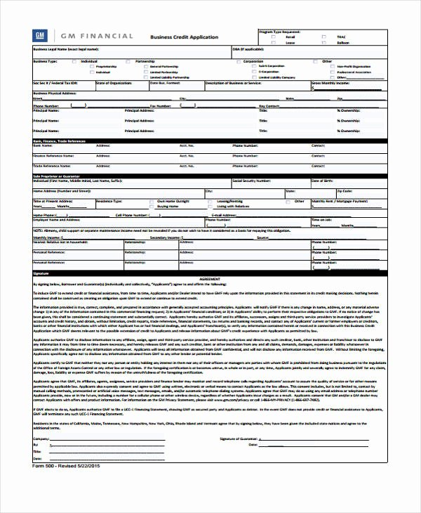 Retail Application form Elegant 9 Business Credit Application form Free Sample Example