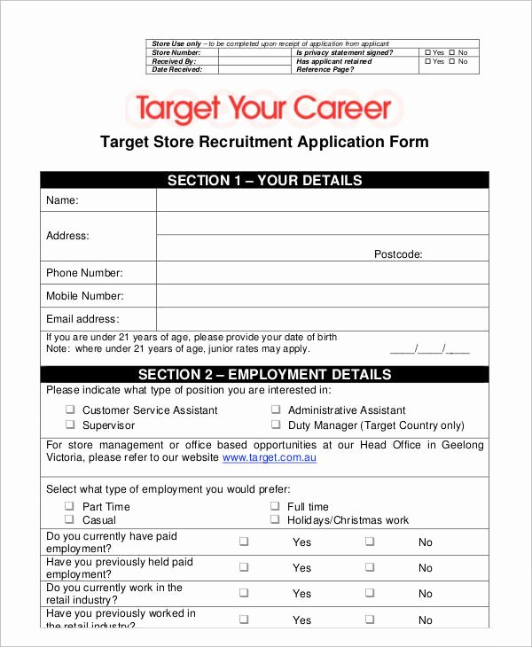 Retail Application form New 35 Application form Samples