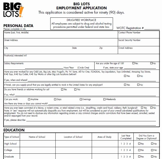 Retail Application form New Best 20 Printable Job Applications Ideas On Pinterest