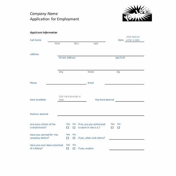 Retail Job Application forms Awesome Four Free Downloadable Job Application Templates
