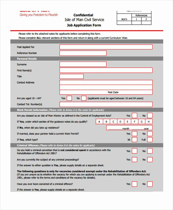 Retail Job Application forms Unique 10 Different Job Application forms
