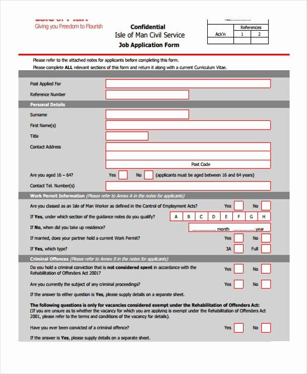Retail Job Application forms Unique 10 Different Job Application forms