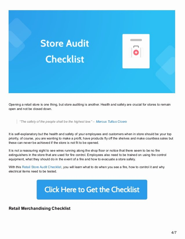 Retail Store Audit Checklist Fresh 6 Retail Process Checklists to Keep Your Store Running