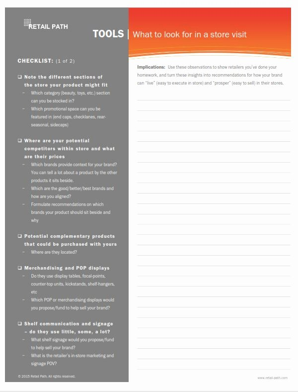 Retail Store Checklist Template Elegant Retailer Pitch Deck Template — Select Your Template