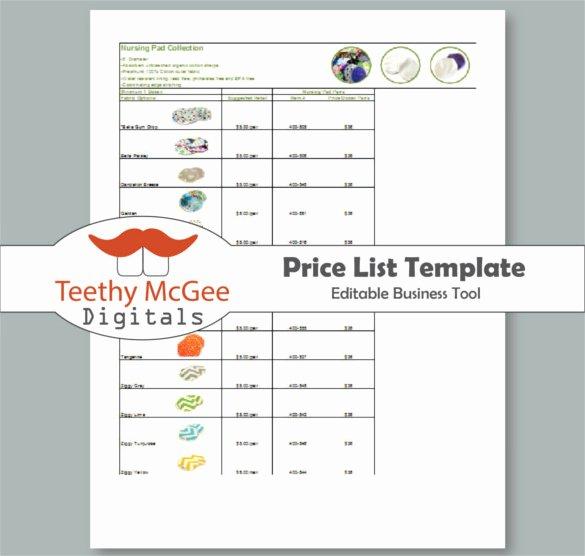 Retail Store Checklist Template Luxury Price List Templates