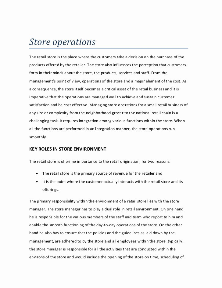 Retail Store Cleaning Checklist Template Beautiful Store Operations