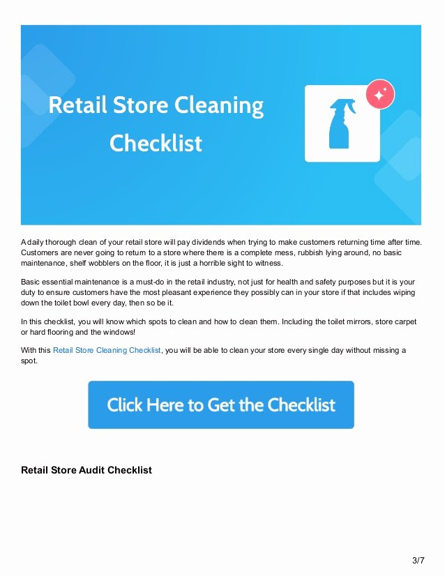 Retail Store Cleaning Checklist Template Elegant 6 Retail Process Checklists to Keep Your Store Running