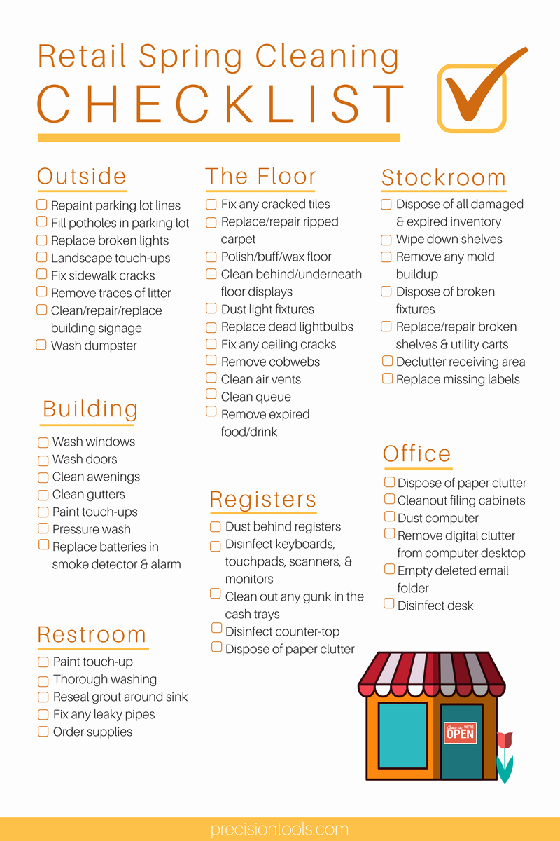 Retail Store Daily Checklist Elegant Ultimate Retail Spring Cleaning Checklist – Omega Products