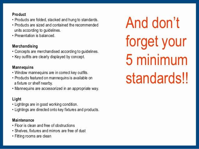 Retail Store Daily Checklist Elegant Vm Training Manual