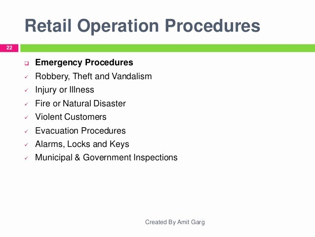 Retail Store Daily Checklist Fresh Retail Store Operations Brief Research