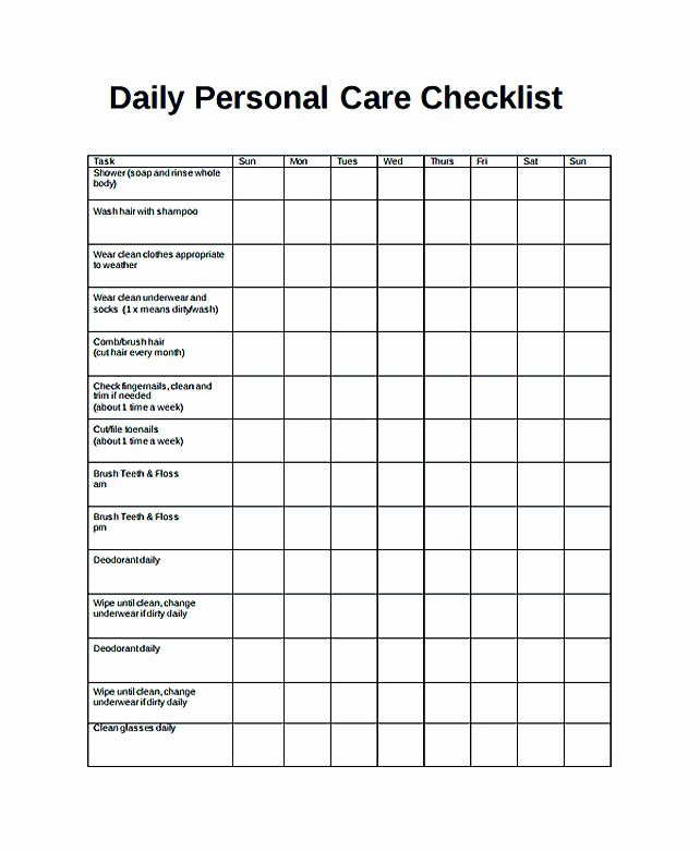 Retail Store Daily Checklist Luxury Free Daily Checklist Template and Its Purposes Daily