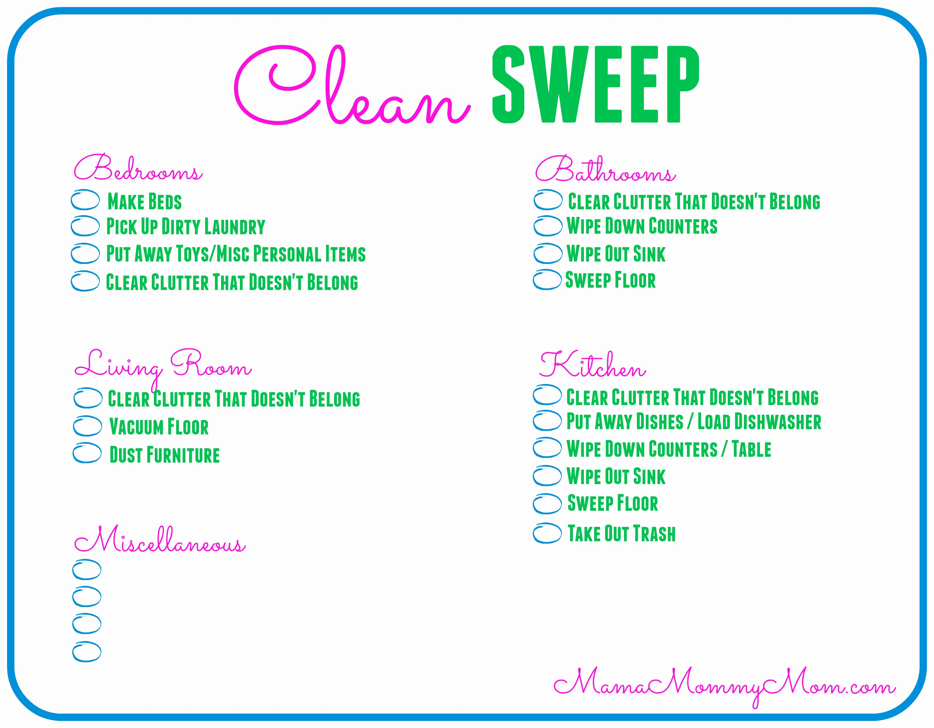 Retail Store Daily Checklist New Free Daily Cleaning Checklist Printable